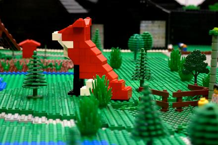 LEGO fox by Caroline Fitton