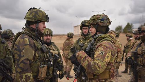 NATO battlegroup exercises in Lithuania