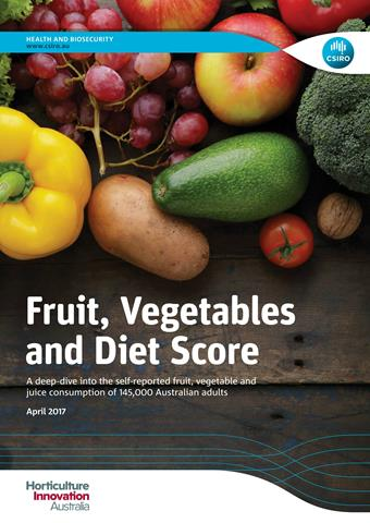 Cover of the Fruit, Vegetables and Diet Score report.