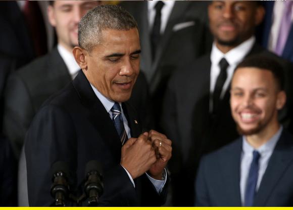 Obama groovin.