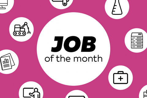 Job of the month - title card