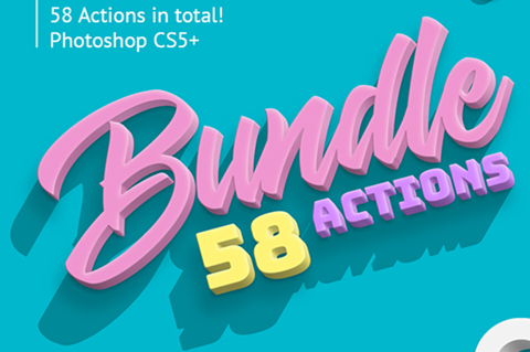 3D Bundle - Photoshop Actions