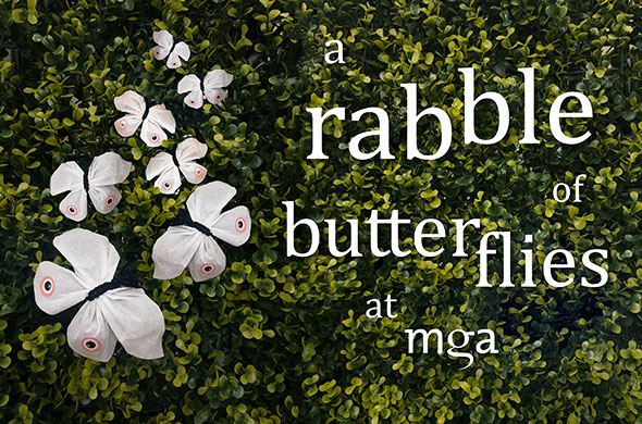 A rabble of butterflies at mga